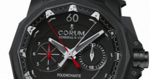 Men's Black Corum Admiral's Cup 48MM Fake Watches