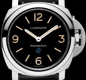 Men's Panerai Luminor Base Logo Acciaio 44mm Black Dial Fake Watches