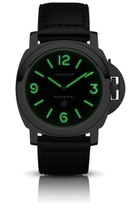 Men's Panerai Luminor Base Logo Acciaio 44mm Black Dial Replica Watches