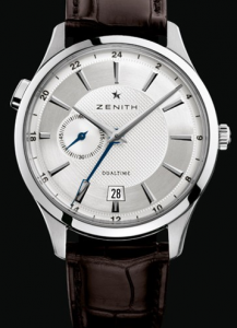 Simple Men's Zenith Elite Dual Time Replica Watches