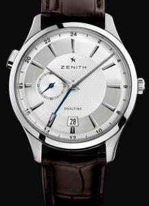 Simple Men's Zenith Elite Dual Time Replica Watches