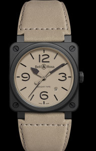 Men's Bell & Ross Aviation BR 03 Replica Watches With Beige Dials