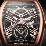 Rose Gold Franck Muller Vanguard Skeleton Fake Watches