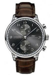 Shiny Black Dials IWC Portugieser Chronograph Fake Watches Presented By Leonardo DiCaprio
