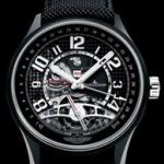 Iron Man Presented Black Dials Jaeger-LeCoultre AMVOX3 Tourbillon GMT Copy Watches Sale