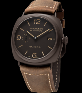 Special Brown Dials Panerai Radiomir Composite Black Seal Fake Watches For LUHAN
