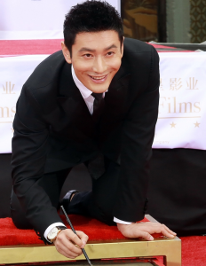 Huang Xiaoming With Male Rose Gold Hands Tissot Chemin Des Tourelles Powermatic 80 COSC Copy Watches