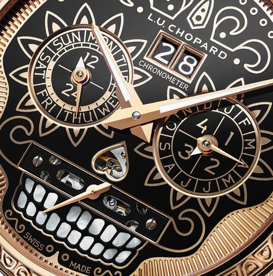 The integrated design of the dial embodies the high level of craftsmanship of Chopard.