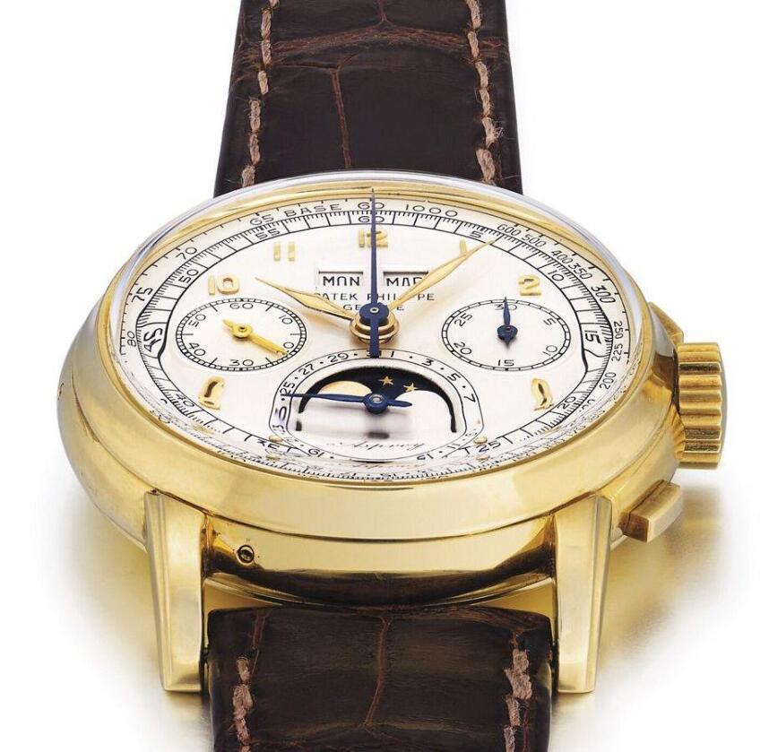 b8da16e970f A piece of gold case fake Patek Philippe Grand Complications Ref.2499  Perpetual Calendar chronograph timepiece printed with Asprey of England was  sold on ...