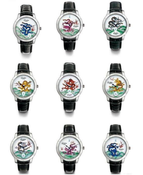 The Glashütte Original has presente the brilliance of the Dragon Wall perfectly.