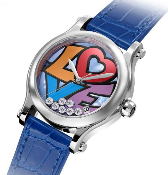 Forever replication watches are fashionable with blue color.