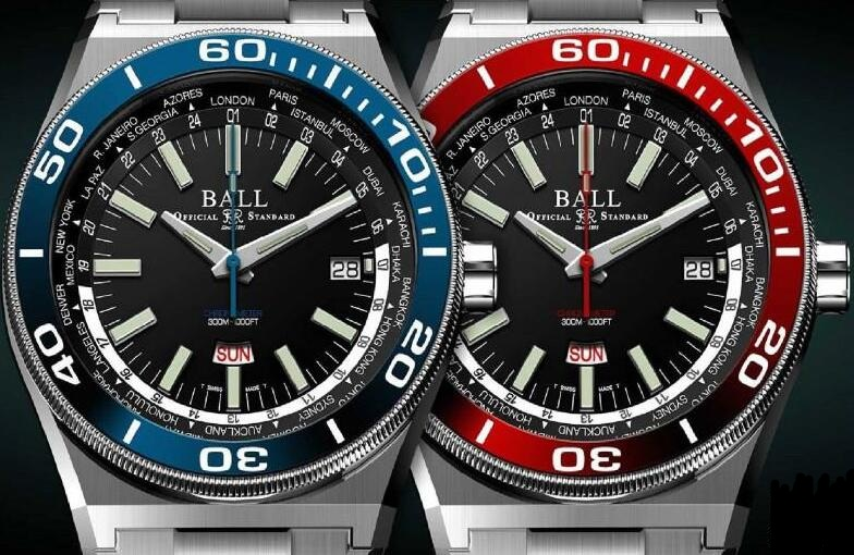 Forever reproduction watches have distinctive blue and red colors.