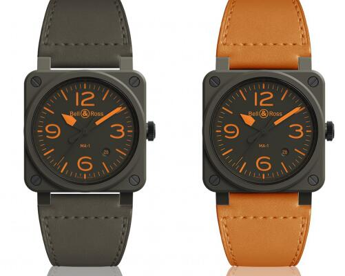 The orange elements are striking on the black dial.
