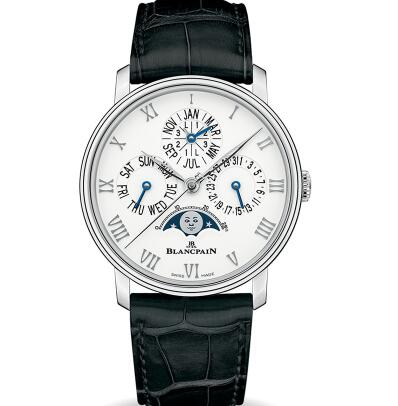The Roman numerals hour markers ensure the elegance.
