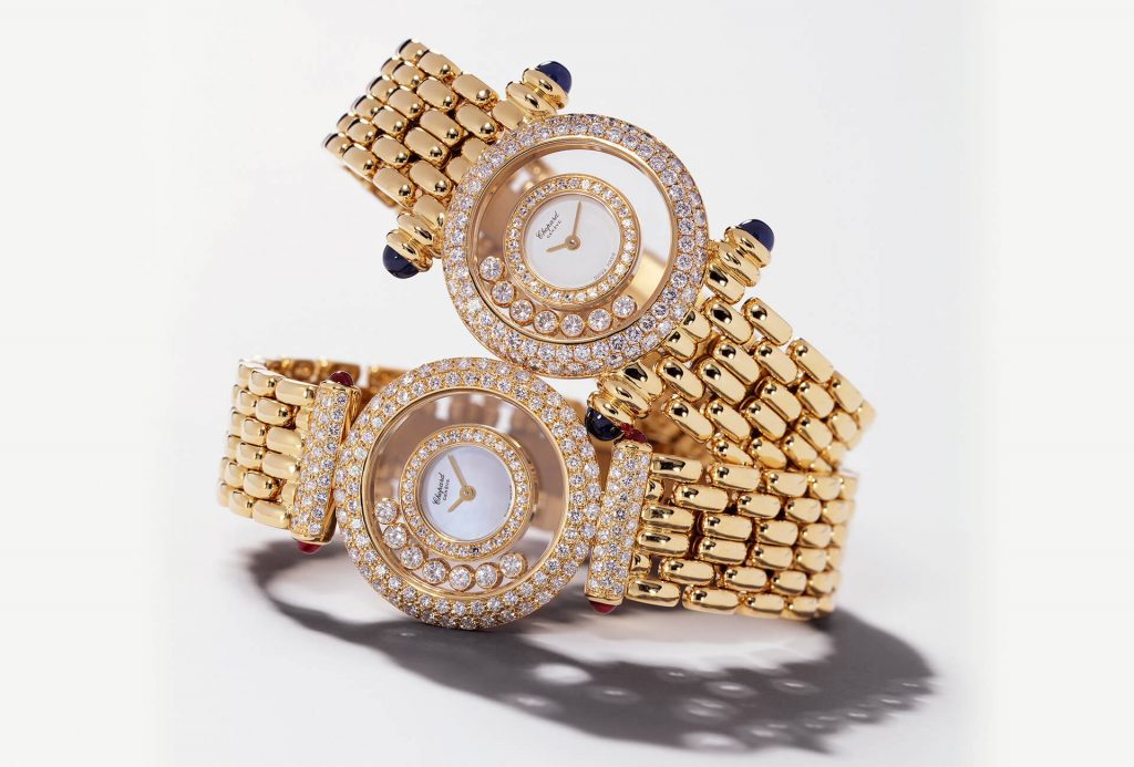 The free floating diamonds make the best copy Chopard more recognizable.