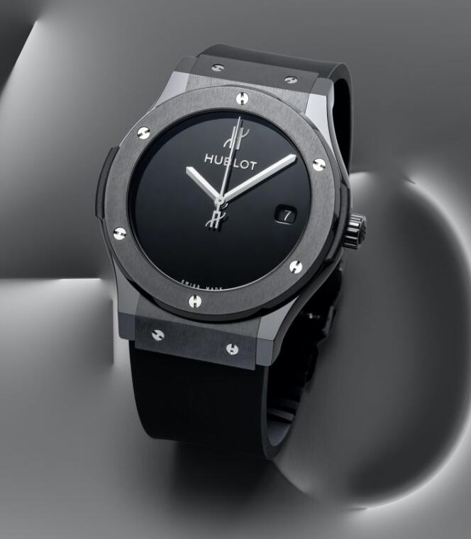 New Swiss made fake watches are cool in black ceramic.